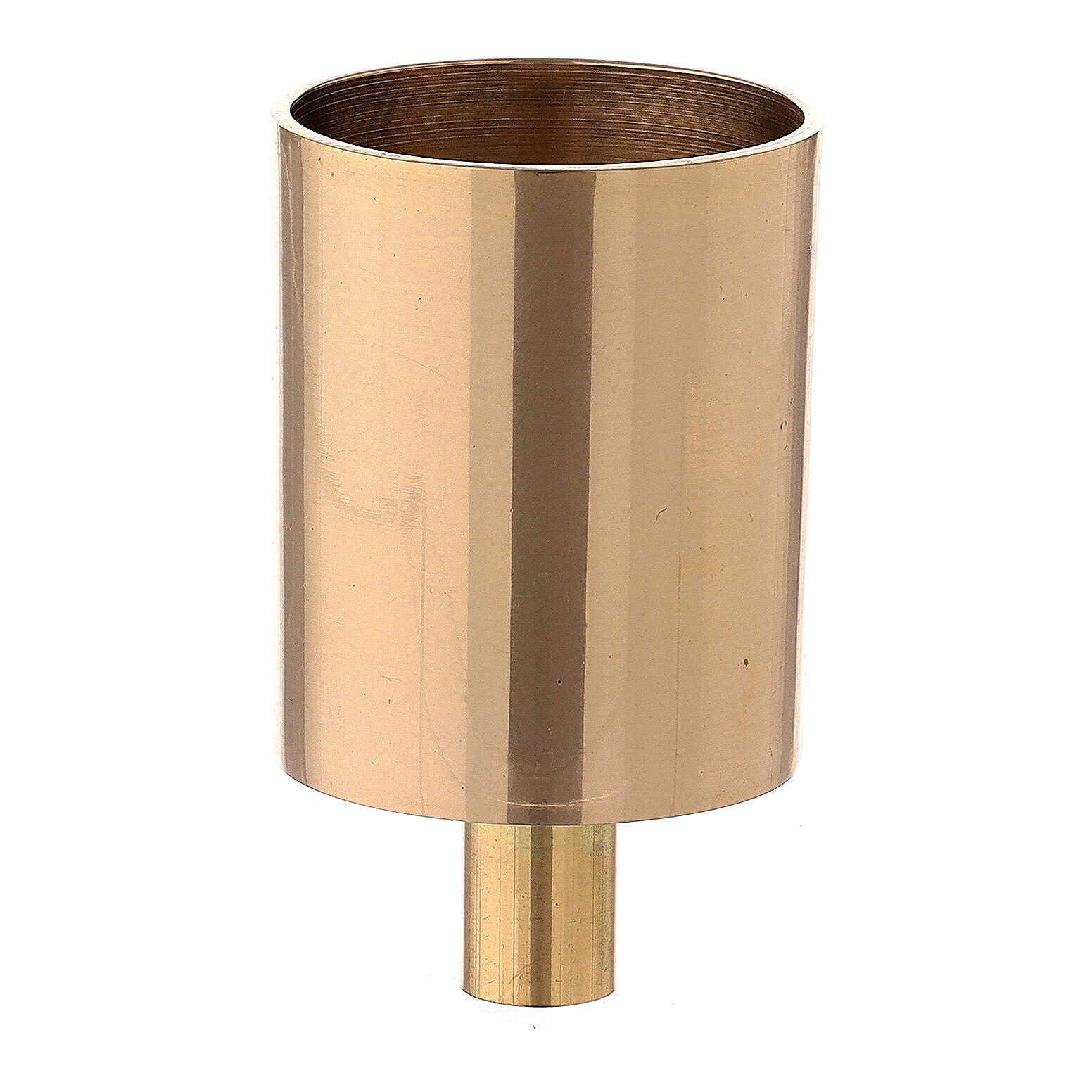Bossolo portacandela ottone dorato vite 4 cm 4