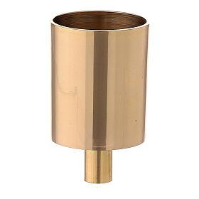 Bossolo portacandela ottone dorato vite 4 cm s1