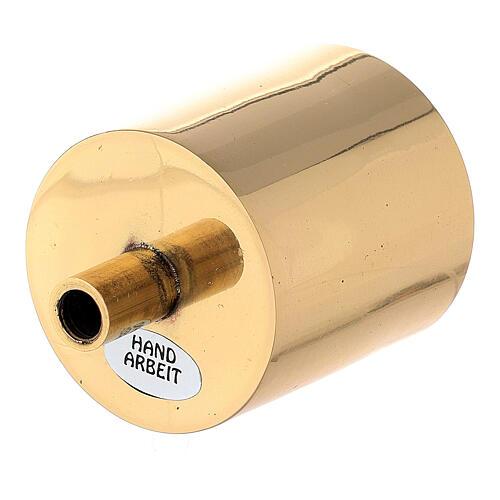 Base portavela 5 cm latón dorado con tornillo 2