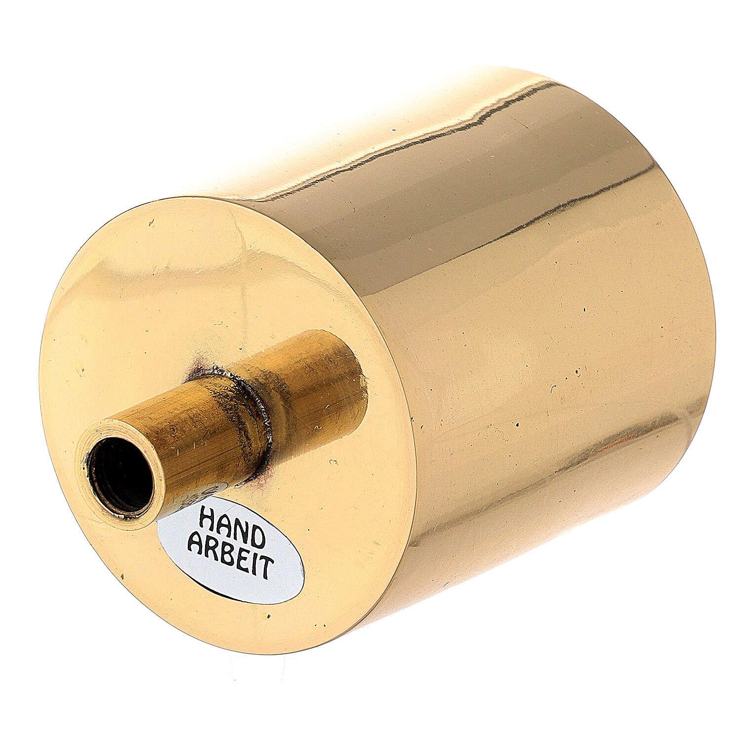 Bossolo portacandela 5 cm ottone dorato con vite 4