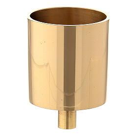 Bossolo portacandela 5 cm ottone dorato con vite s1