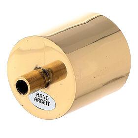Bossolo portacandela 5 cm ottone dorato con vite s2