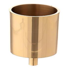 Base vela 6 cm latón dorado con tornillo s1
