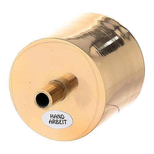 Base vela 6 cm latón dorado con tornillo 2