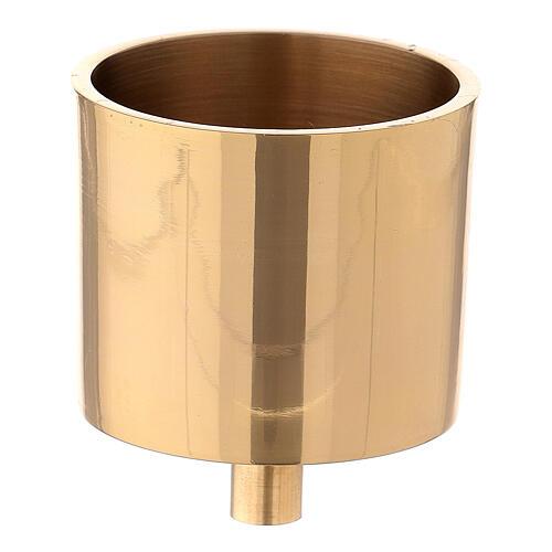 Bossolo candela 6 cm ottone dorato con vite 1