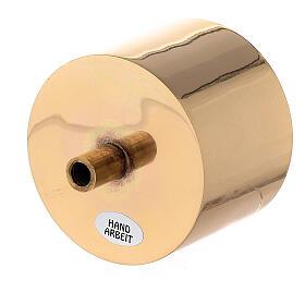 Base para candelero latón dorado 7 cm s2