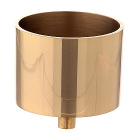 Bossolo per candeliere ottone dorato 7 cm s1