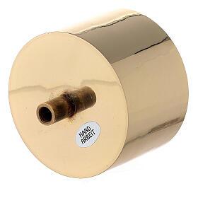 Base vela latón dorado 8 cm s2