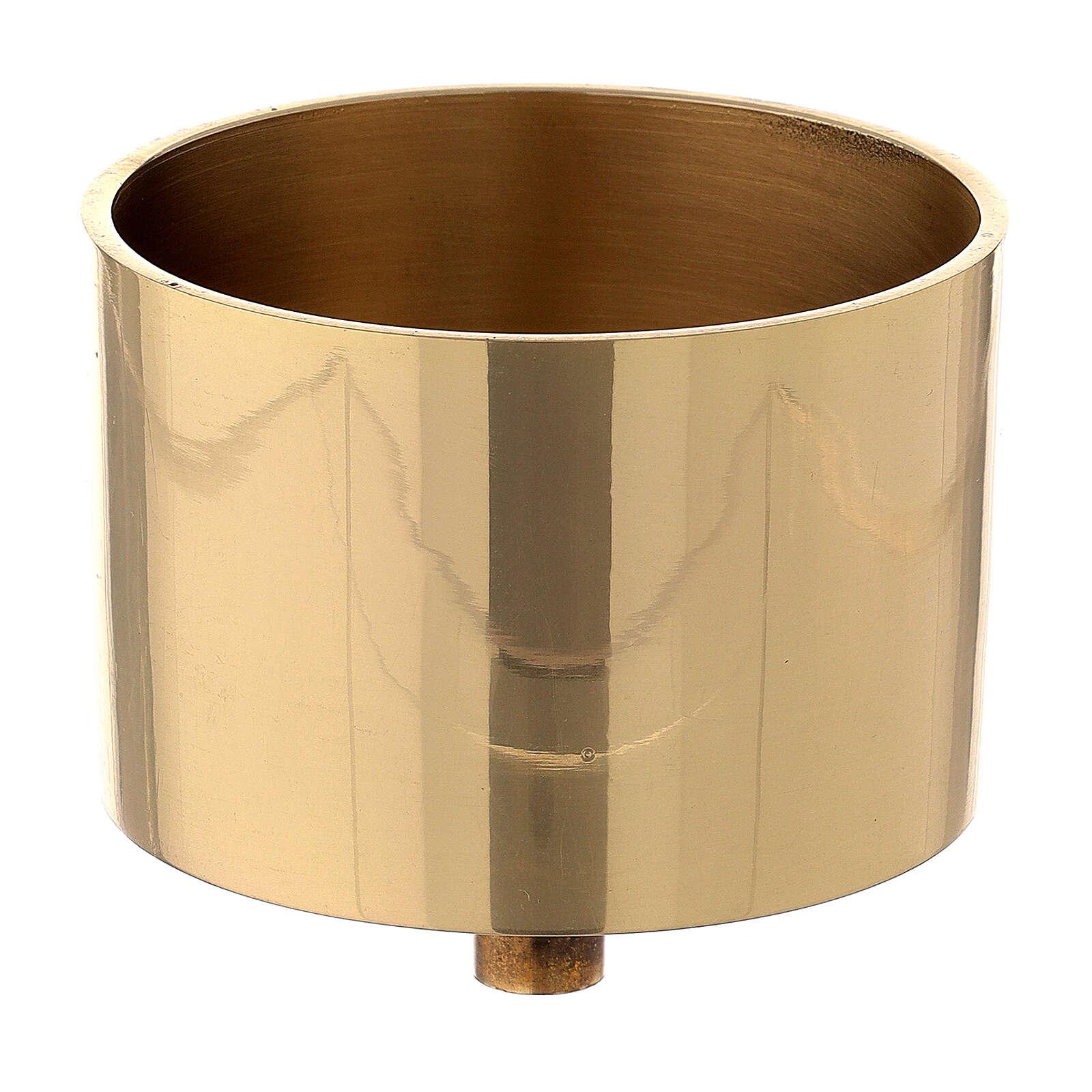 Bossolo candela ottone dorato 8 cm 4