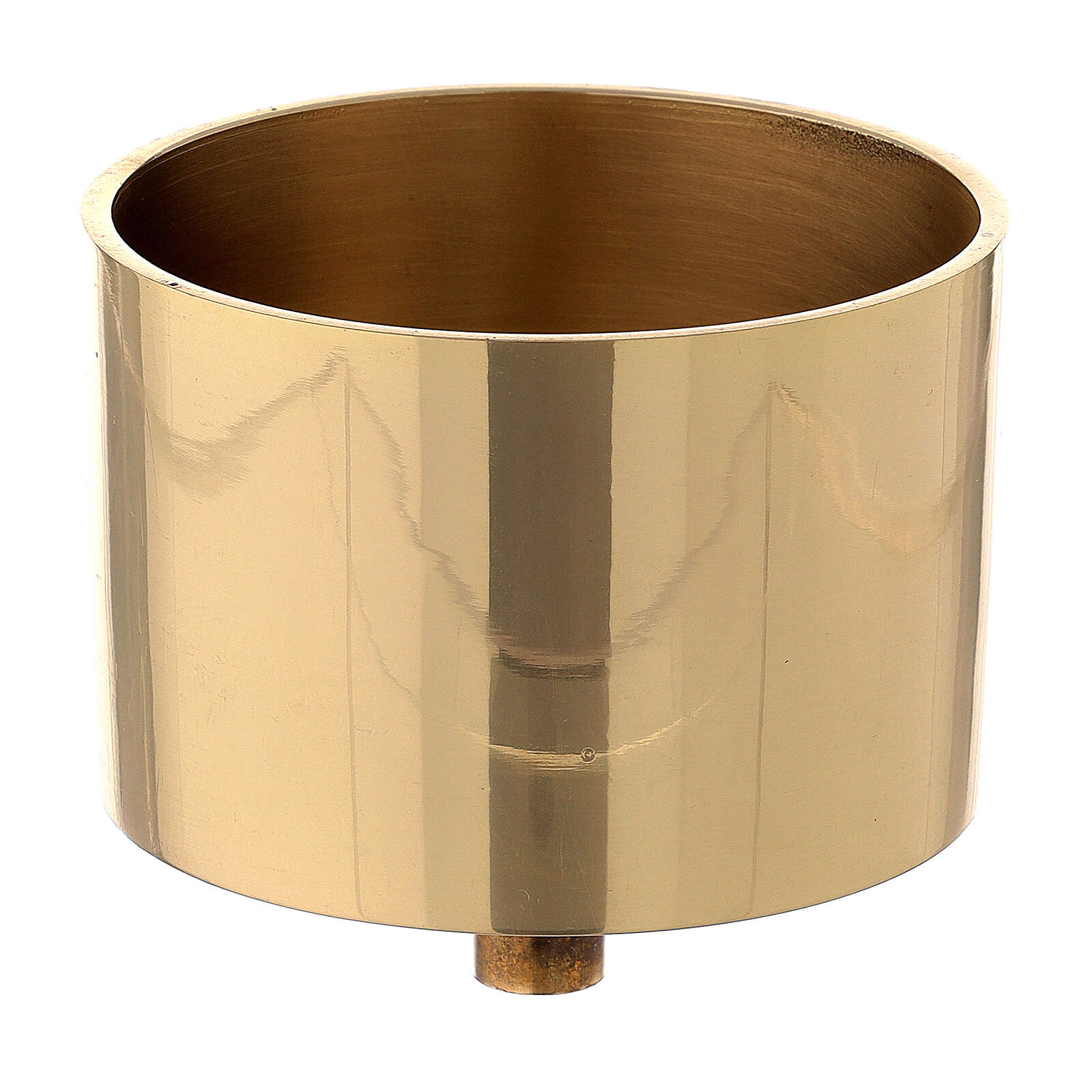 Candle socket gold plated brass 3 in 4