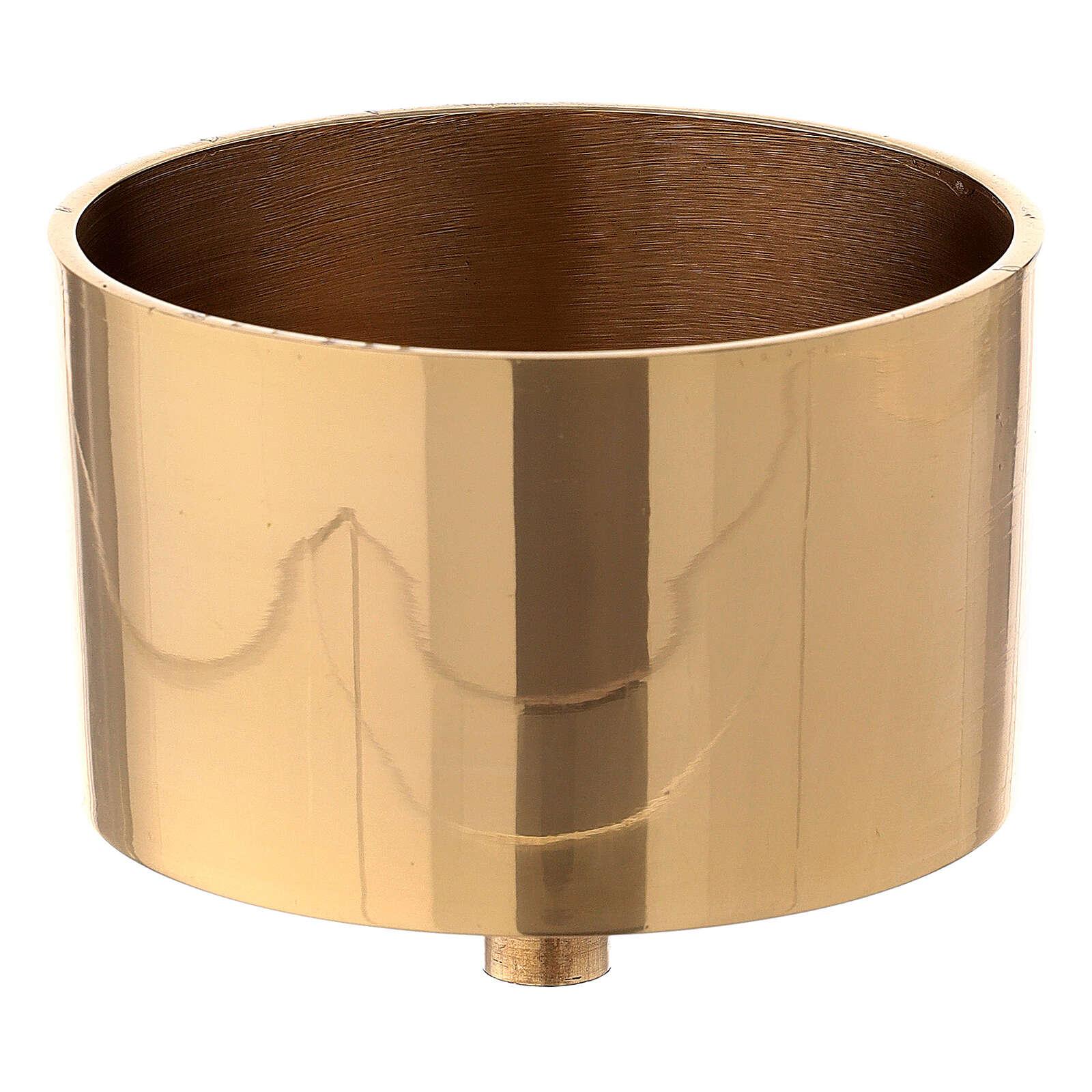 Base portavela 9 cm latón dorado 4
