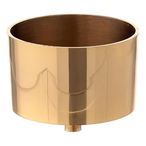 Bossolo portacandela 9 cm ottone dorato 1