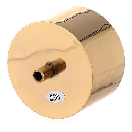 Bossolo portacandela 9 cm ottone dorato 2