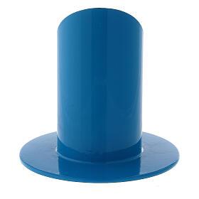 Portacandela blu elettrico ferro diametro 4 cm s3