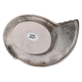 Portacandela ottone nichelato design ali 7x5 cm s3