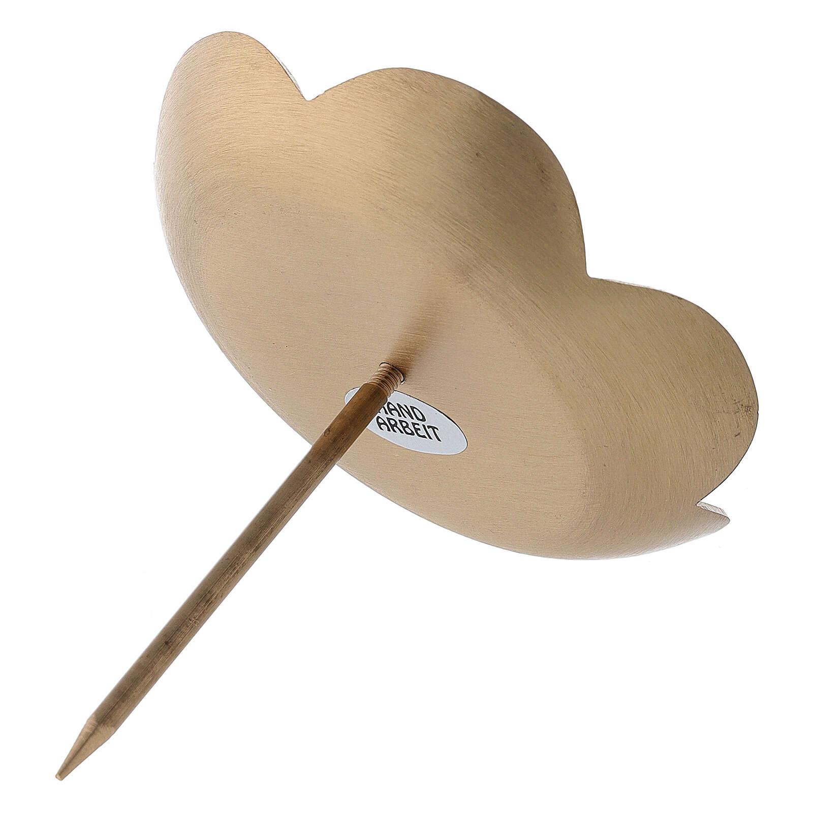 Punzone avvento loto ottone spazzolato 10 cm 3