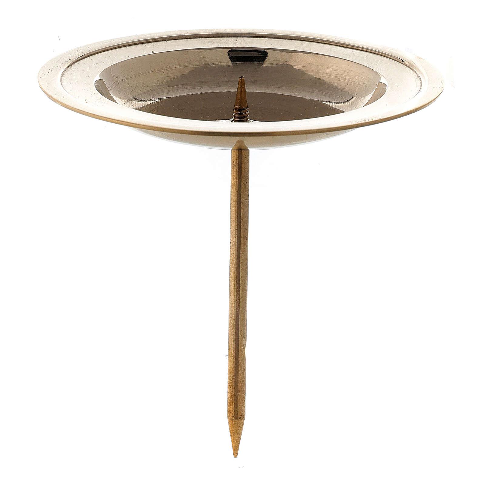 Punzone avvento circolare ottone lucido 8,5 cm 3