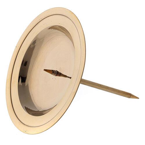 Punzone avvento circolare ottone lucido 8,5 cm 2