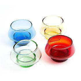 Świeczniki ceramika, szkło, pleksiglas: Pojemniki na podgrzewacze kolorowe