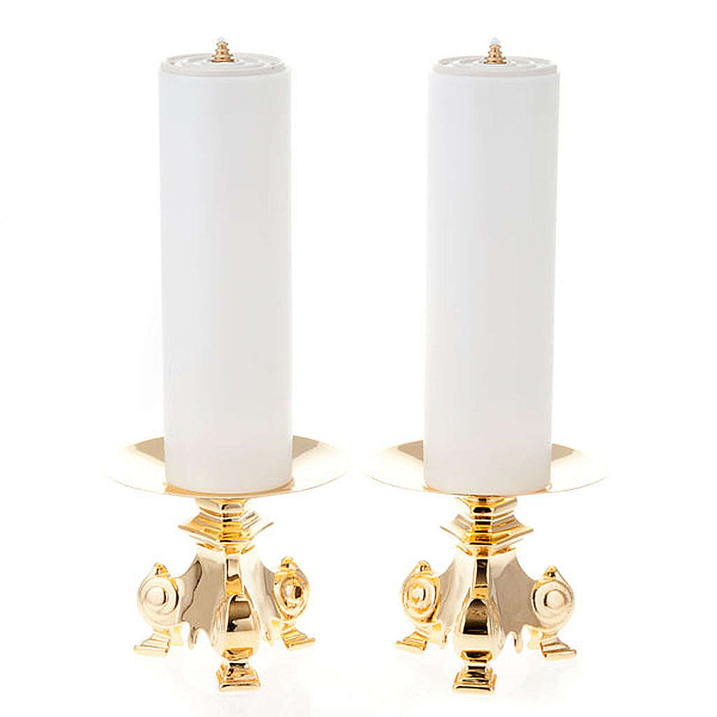 pair of wrought candle holders, height 15cm 4