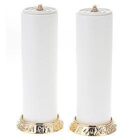 Coppia candelieri metallo dorato base h2.2 s1