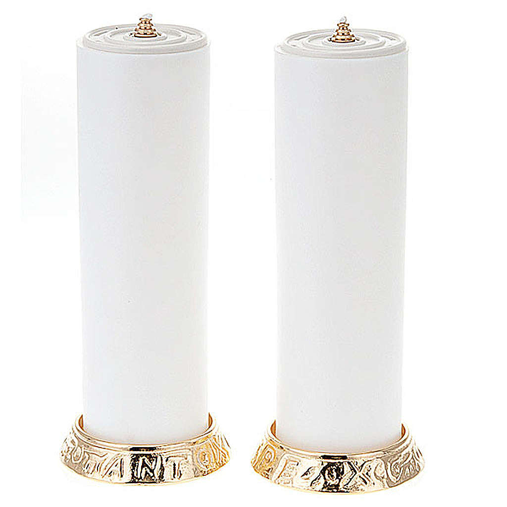 pair of candle holders, height 2,2cm 4