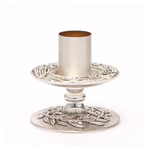 Altar candle holder with olive branches 9