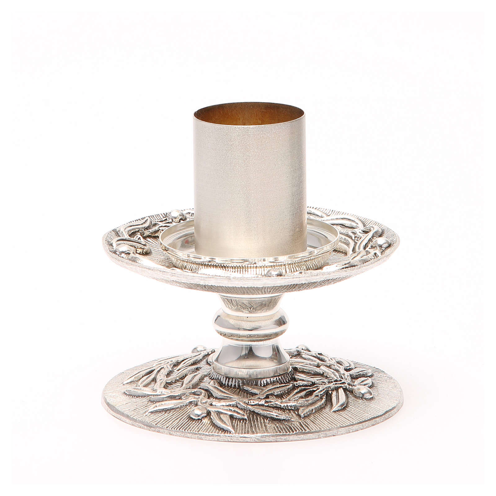 Altar candle holder with olive branches 4