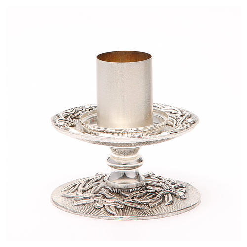 Altar candle holder with olive branches 2