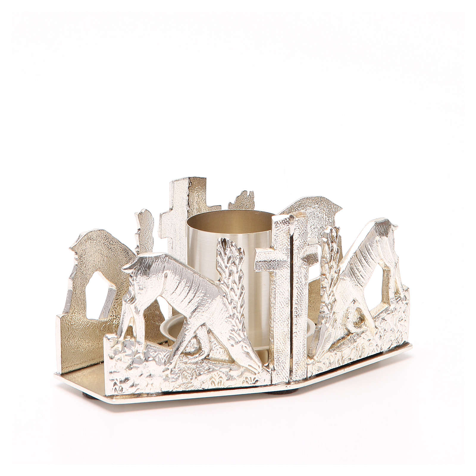 Altar candle holder with deers 4