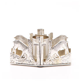 Altar candle holder with deers s1