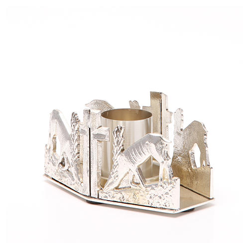Altar candle holder with deers 2