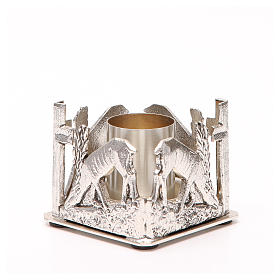 Altar candle holder, deers drinking water s6
