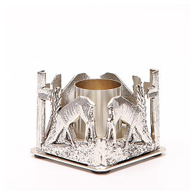 Altar candle holder, deers drinking water s2