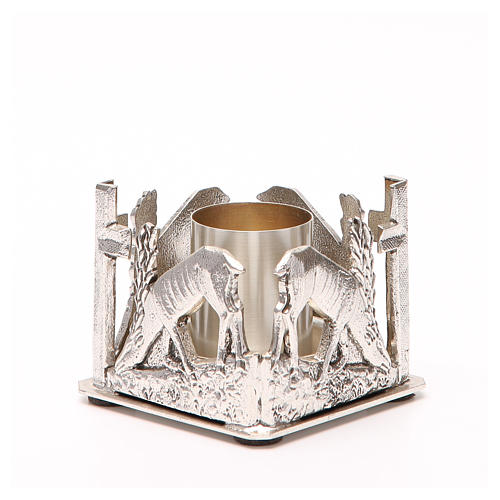 Altar candle holder, deers drinking water 6