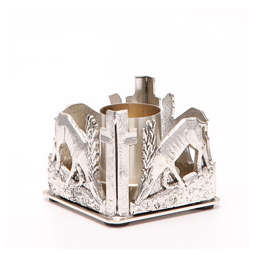 Altar candle holder, deers drinking water 7