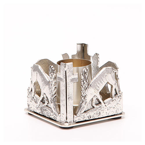 Altar candle holder, deers drinking water 3
