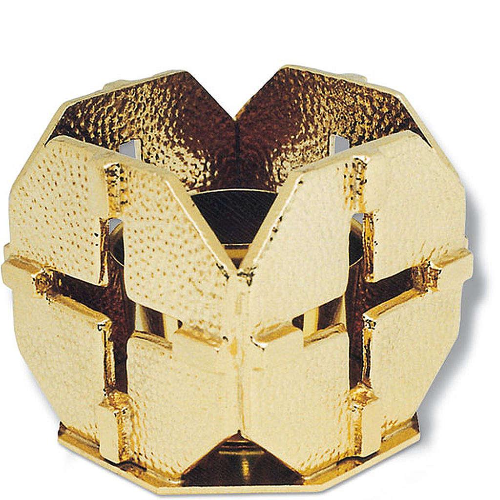 Portacandela bronzo dorato croci 4