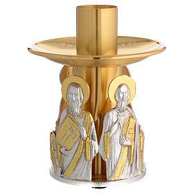 Portacandela bronzo dorato 4 evangelisti s1