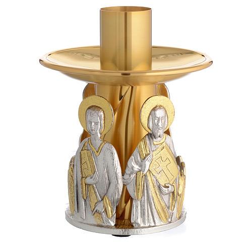 Portacandela bronzo dorato 4 evangelisti 2
