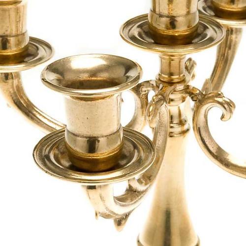 Candélabre 5 flammes laiton 2