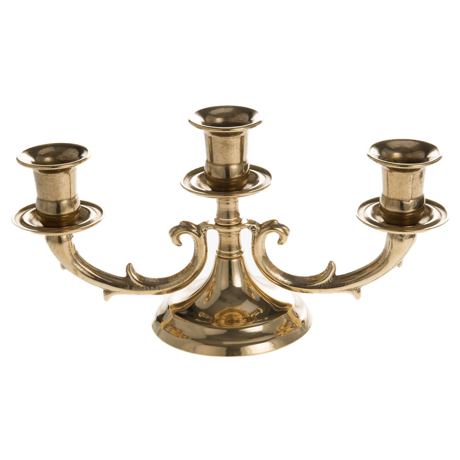3 branches candelabrum in brass 4