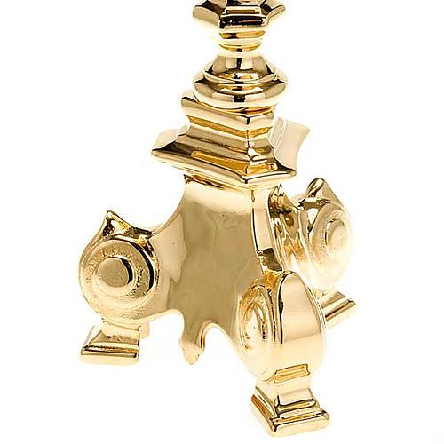 Portacandela barocco dorato 4