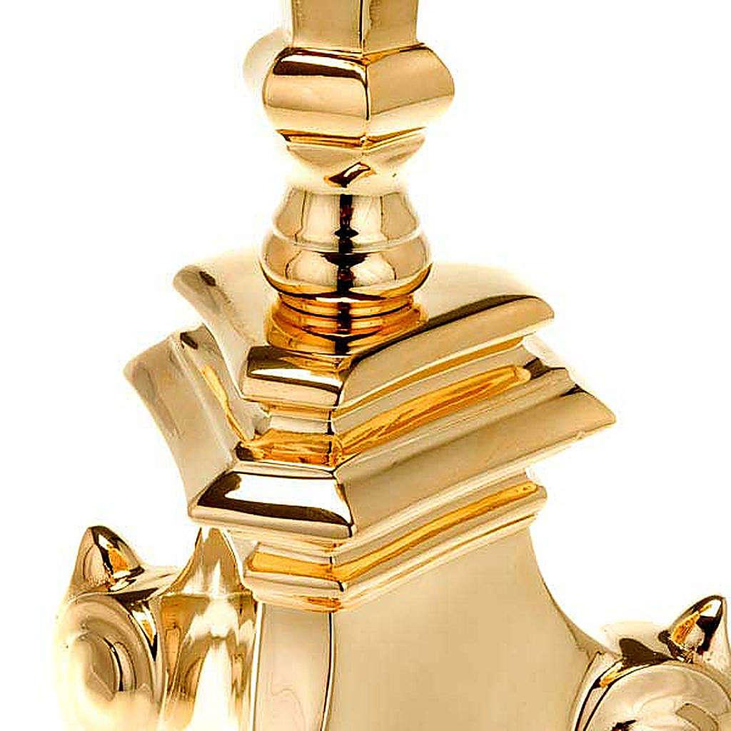Candelabro estilo barroco latón dorado 4