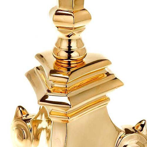 Candelabro estilo barroco latón dorado 2