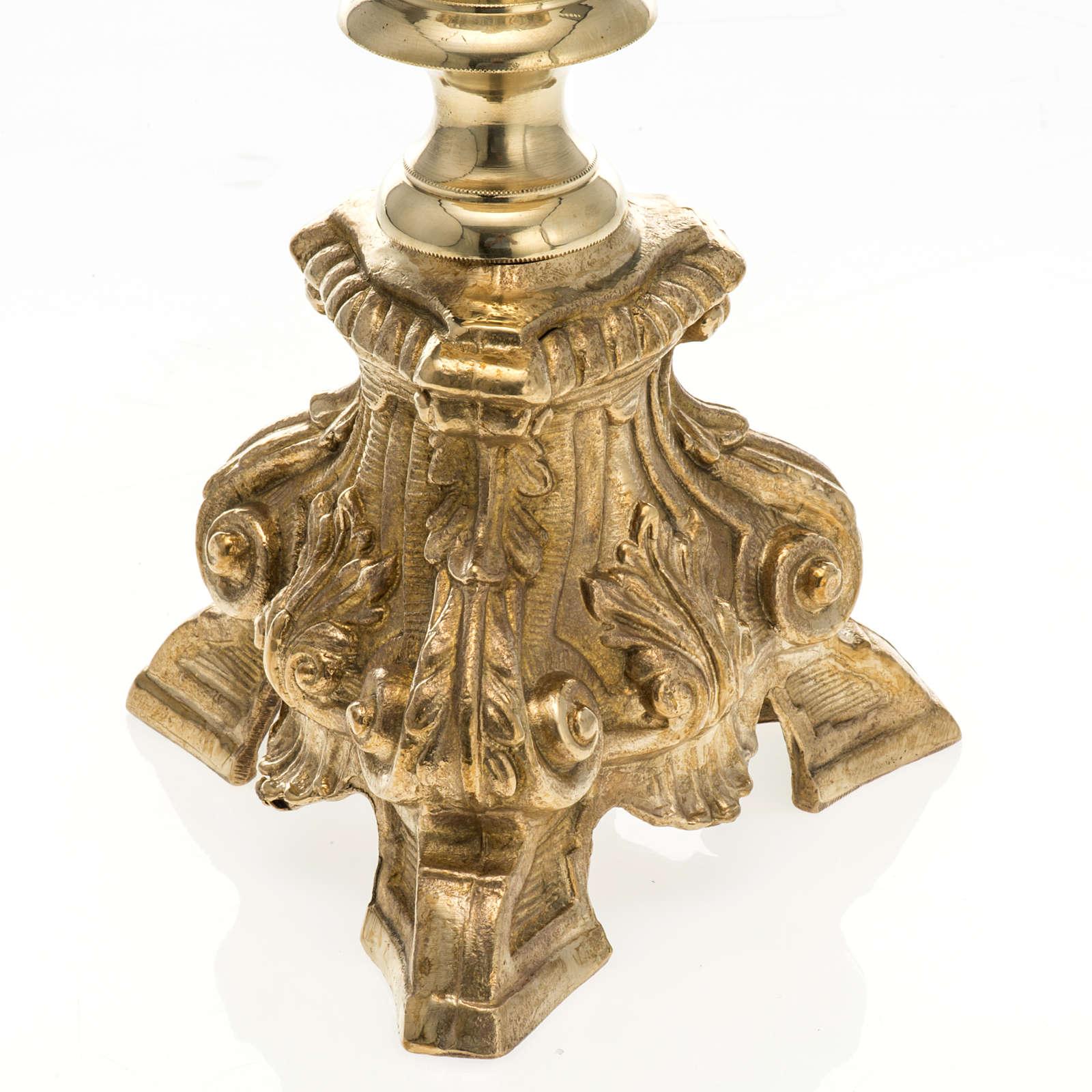 Baroque candlestick, brass 60 cm 4
