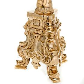 Candeliere stile rococò ottone lucido s2