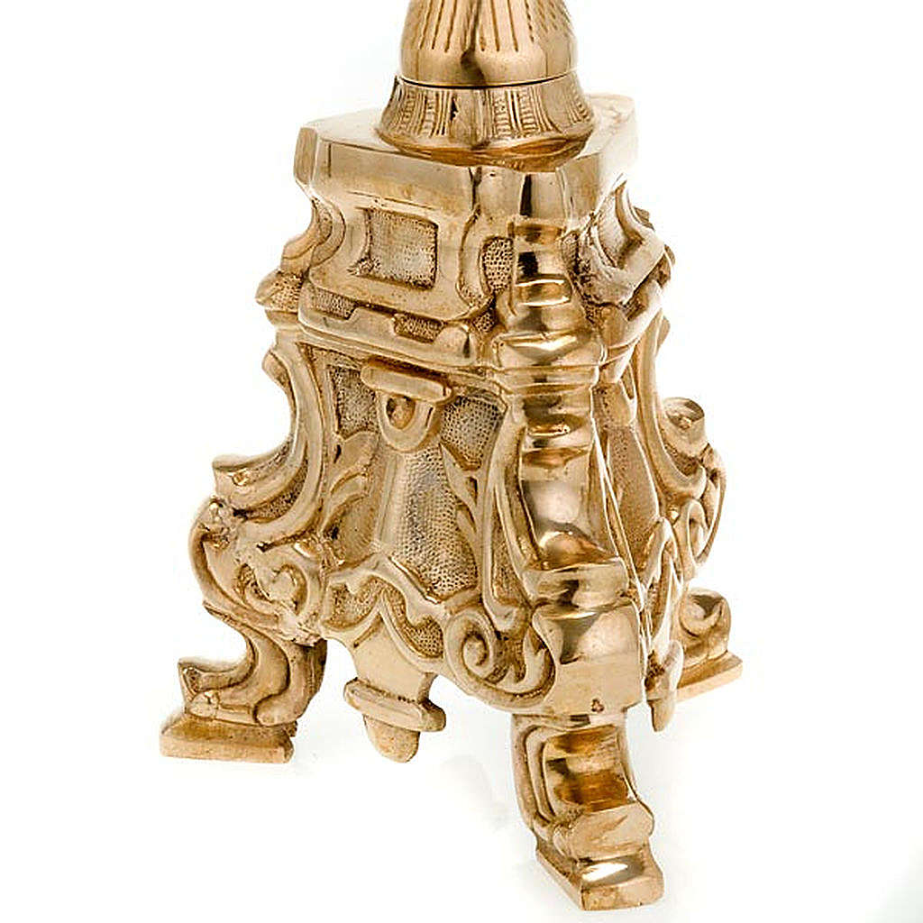 Rococo candlestick, burnished brass 4