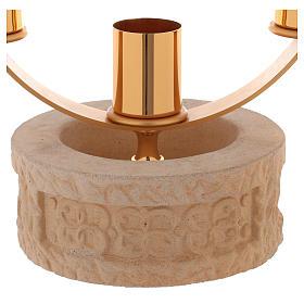 Candelabro 3 llamas cerámica arena de cuarzo s2
