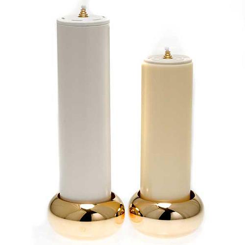 Chandelier d'autel laiton doré lucide 5